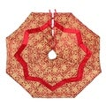 Red and Gold Khari Print Tree Skirt (India)