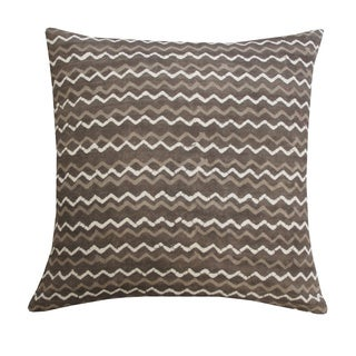 Handcrafted Grey Batik Throw Pillow (India)