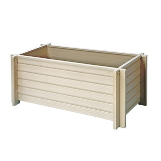 EcoChoice Wood 42-inch Square Planter