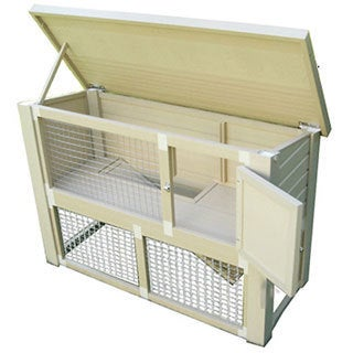 Eco Columbia Wood and Recycled Polymer Rabbit Hutch
