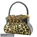 Jacki Design Metallic Leopard Handbag Brush Holder