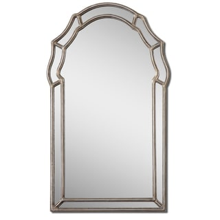 Petrizzi Antique Silver Leaf Arched Mirror