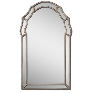 Uttermost Petrizzi Antique Silver Leaf Arched Mirror