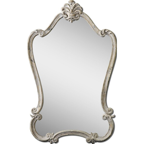 Uttermost Walton Hall White Arched Mirror