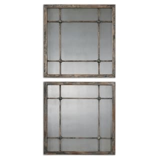 Saragano Slate Blue Square Mirrors (Set of 2)