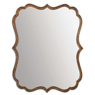 Spadola 30-inch Oxidized Copper Mirror
