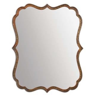 Uttermost Spadola 30-inch Oxidized Copper Mirror