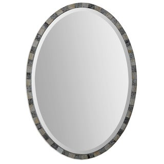 Paredes Dark Antique Oval Mirror