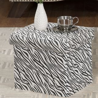 Zebra Fabric Small Storage Bench