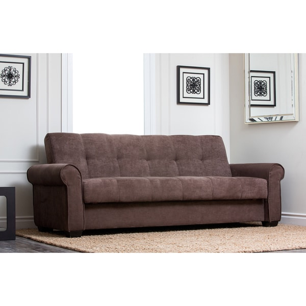 abbyson living amy fabric sleeper sofa bed overstock shopping