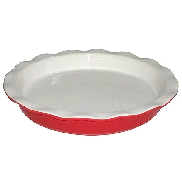 KitchenWorthy Ceramic Pie Plate (Case of 12)