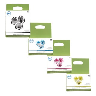 Dell 31 Black, Cyan, Magenta and Yellow Ink Cartridges (Pack of 4)