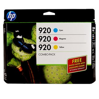 HP 920 Cyan, Magenta and Yellow Ink Cartridges (Pack of 3)