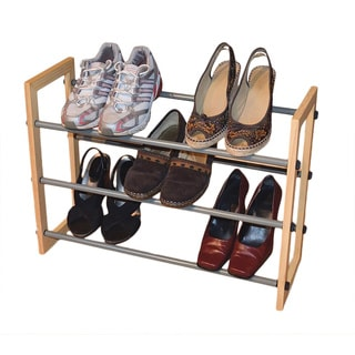 3-tier Expandable Enamel Coated Shoe Rack