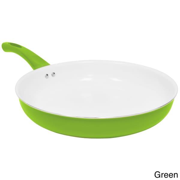 Ceramic Coated Non Stick Aluminum 12 Inch Fry Pan