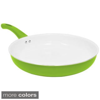 Healthy Living Ceramic Coated Non-Stick Aluminum 12-inch Fry Pan