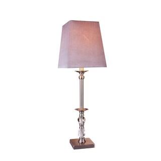 Fangio Lighting Brushed Steel Finish Metal & Crystal Buffet Lamp