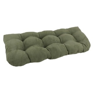 Blazing Needles Earthtone U-Shaped Tufted Microsuede Settee/Bench Cushion