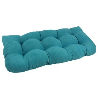 Blazing Needles Tropical U-Shaped Tufted Microsuede Settee/Bench Cushion