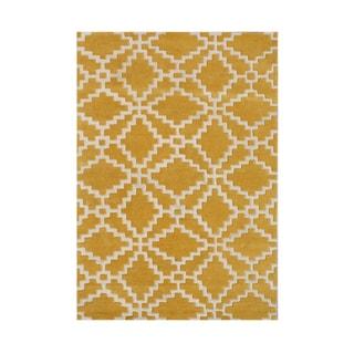 Alliyah Handmade Mustard Wool Rug (8' x 10')