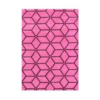 Alliyah Handmade Camellia Rose Wool Rug (8' x 10')