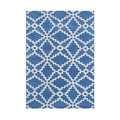 Alliyah Handmade Patriot Blue Wool Rug (5' x 8')