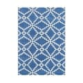 Alliyah Handmade Patriot Blue Wool Rug (8' x 10')