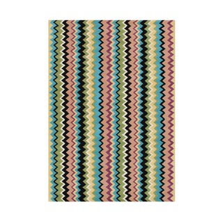 Alliyah Handmade Multicolored Wool Rug (5' x 8')