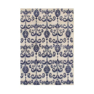 Alliyah Handmade Cream Wool Rug (5' x 8')