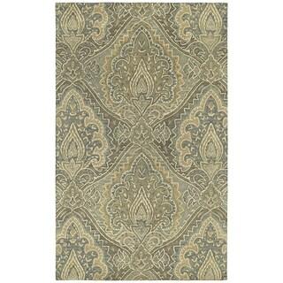 St. Joseph Sage Damask Hand-tufted Wool Rug (3'6 x 5'3)