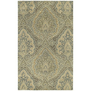 St. Joseph Sage Damask Hand-tufted Wool Rug (9'6 x 13')