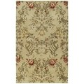 St. Joseph Sand Floral Hand-tufted Wool Rug (5' x 7'9)