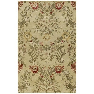 St. Joseph Sand Floral Hand-tufted Wool Rug (3'6 x 5'3)