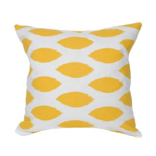 Yellow Ikat 20-inch Accent Pillow