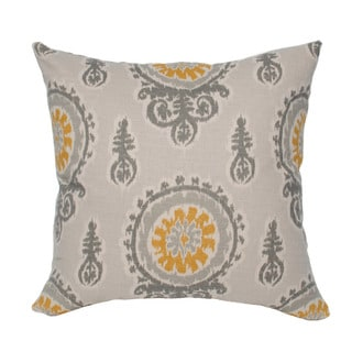 Gold/ Grey/ Birch Medallion 20-inch Decorative Pillow