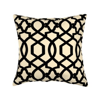 Black Hampton 20-inch Decorative Down Fill Pillow
