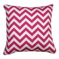 Chevron Candy Pink 20-inch Decorative Down Fill Pillow