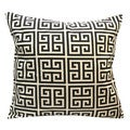 Greek Key Onyx Linen Throw Pillow