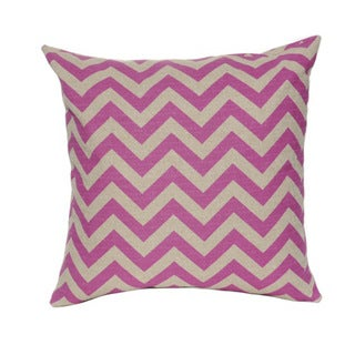 Magenta Chevron 20-inch Square Throw Pillow