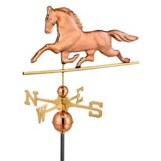 Patchen Horse Weathervane in Polished Copper