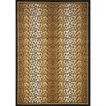 Tan/ Black Leopard Border Area Rug (7'8 x 10'7)
