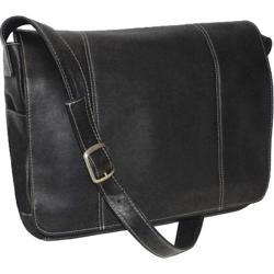 Royce Leather Vaquetta 13in Laptop Messenger Bag Black