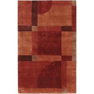 Hand Knotted Pokhara Aurora Red Miso Rug (8' x 11')