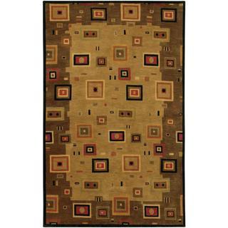 Hand Knotted Pokhara Timberlake Earthtones Rug (8' x 11')
