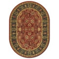 Royal Kashimar Cypress Garden Persian Red Wool Oval Rug (3'11 x 6'6)