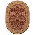 Royal Kashimar All Over Vase Persian Red Wool Oval Rug (5'3 x 7'6)