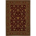 Royal Luxury Brentwood Bordeaux Wool Rug (5'3 x 7'6)