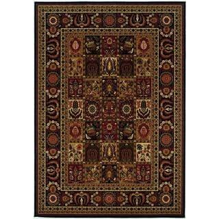Royal Kashimar Antique Nain Black Wool Rug (6'6 x 9'10)
