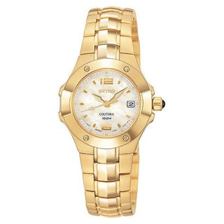 Seiko Coutura Women's Pink Mother-of-Pearl Stainless Steel Watch