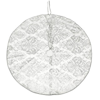 White and Silver Kahri Print Tree Skirt (India)